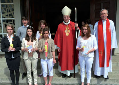 Confirmation May 2012: Monsignor Brunin, Father Prevel